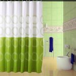Rideau de douche blanc, vert ronds – Le Marché du Rideau