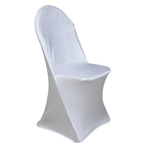 Housse de chaise pliante blanche