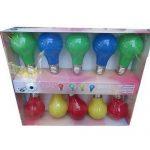 Guirlande a piles autonome ampoule led de decoration lumineuse multicolore  pour maison