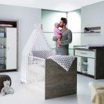 Chambre bébé, lit, commode, armoire, Switch, Schardt