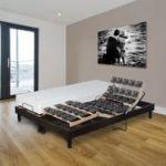 PRESTIGE COLLECTION Lit relaxation électrique TPR accueil mémoire de forme  55kg/m3 160x200cm DORSOFLEX