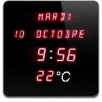Annonce · Horloge Calendrier Digitale Rouge Horloge grand affichage date,  heure, et température ambiante