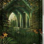 Maison En Bois Imprimer Rideau De Douche Imperméable à L'eau Vert …