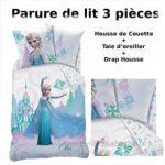 REINE DES NEIGES - Parure de lit (3pcs) - Housse de Couette (140x200