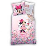 Parure de lit enfant 2 pièces fleurs et Minnie Disney®. Parure de lit  enfant 2 pièces fleurs et Minnie Disney®. Drap-housse 90x190