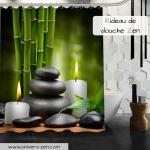 Un rideau de douche #zen de petite à grande taille à utiliser pour …