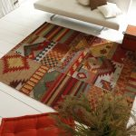 Tapis patchwork pure laine