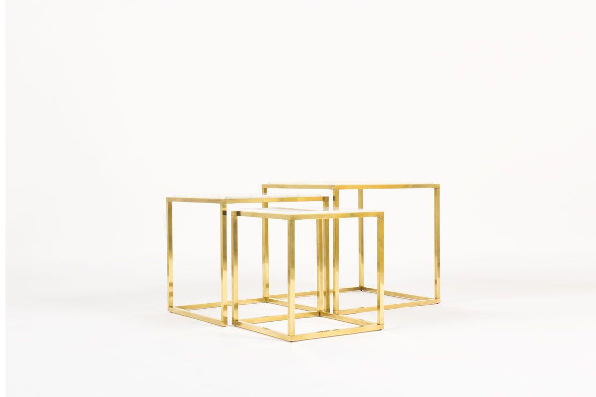 Tables Basses Vintage Avec Plateaux Marbre Materiau Intemporel Et