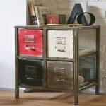Meuble 4 tiroirs style atelier