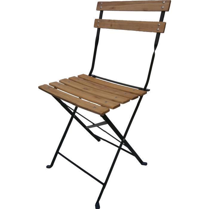 Chaise pliante bois et fer chaise aluminium pas cher