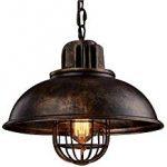 NIUYAO Lampe Suspension Lustre Abat-jour en Métal avec Grills Loft Style  Chandelier Industriel Vintage