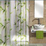 Rideau de Douche Design, Bambou, Rideau sans PVC – SalleDeBainsDeco.com