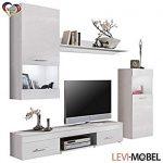 4 meubles de salon 514453 – Type mural – Vitrine et étagère – Blancs …