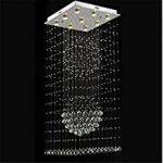 FFJTS lumière de Plafond LED Lampe Suspension en Verre + Chalet escalier  Lustre 60 * 150