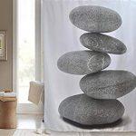 Vaelson Rideau de Douche PIERRES 180×200 cm incl. 12 Anneaux pour …