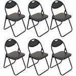 Chaise pliante rembourrée - pour le bureau - entièrement noire ...