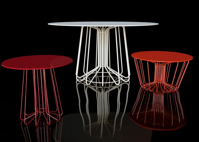 tables armature filaire, Arik Levy, Small wire | Balcon | Table …
