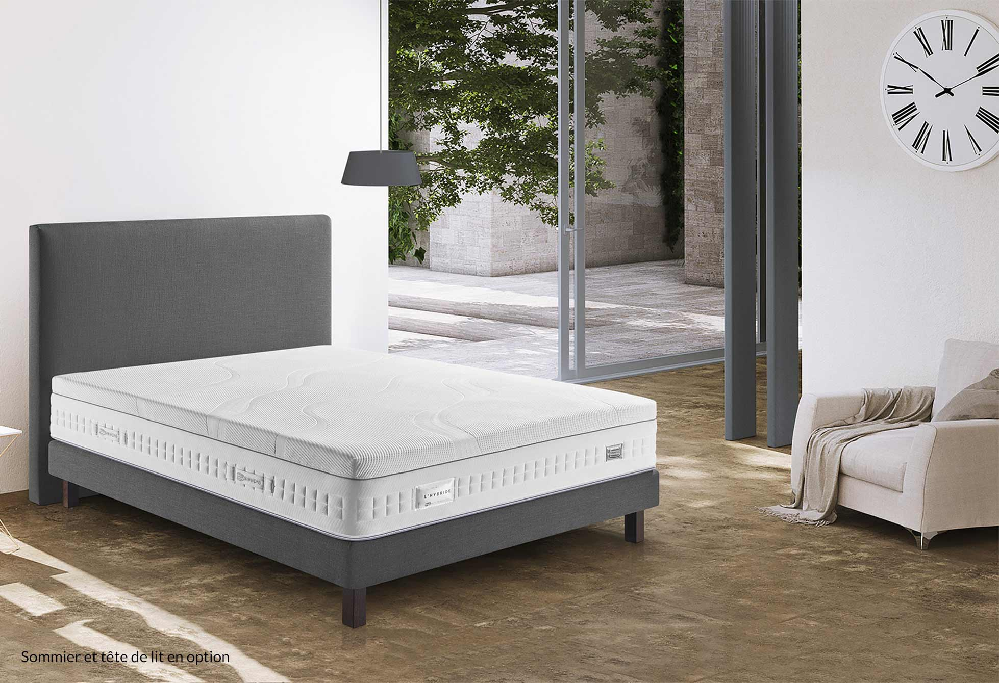 ... Matelas Ressorts Simmons HYBRIDE 713 120x190 (1 pers)