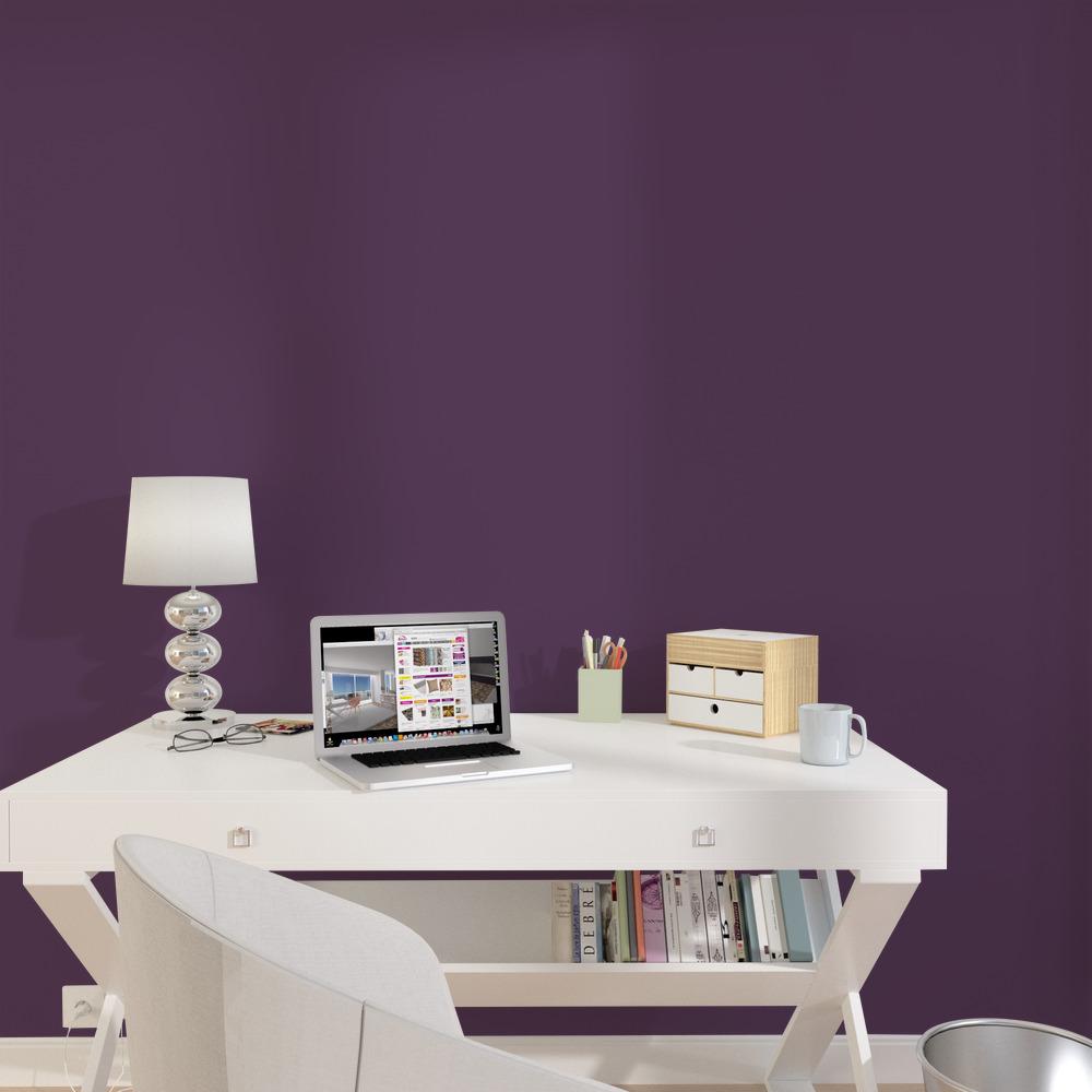 Peinture Murale Muraline Acrylique Violet Satiné 2 5 L