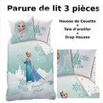 Decokids Reine des NEIGES - Parure de lit (3pcs) - Housse de Couette (