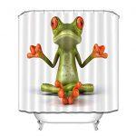 LB Funny Yoga Grenouille Méditation Rideaux de Douche pour Salle de …