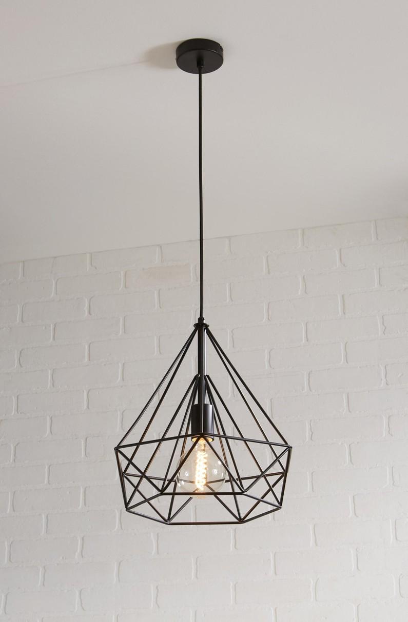 Suspension E27 Design Byron Metal Noir 1 X 60 W Inspire