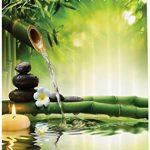 Abakuhaus Spa Rideau de Douche, Méditation Et Zen Image de Bougies …