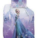 Familando Disney La Reine des neiges Parure de lit en flanelle comprenant 1  housse de couette