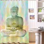 Tissu Polyester Bouddha assis en méditation Rideau de douche 3D …