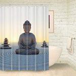 Foog méditation du Bouddha Rideaux de douche Yoga Rideau de douche …