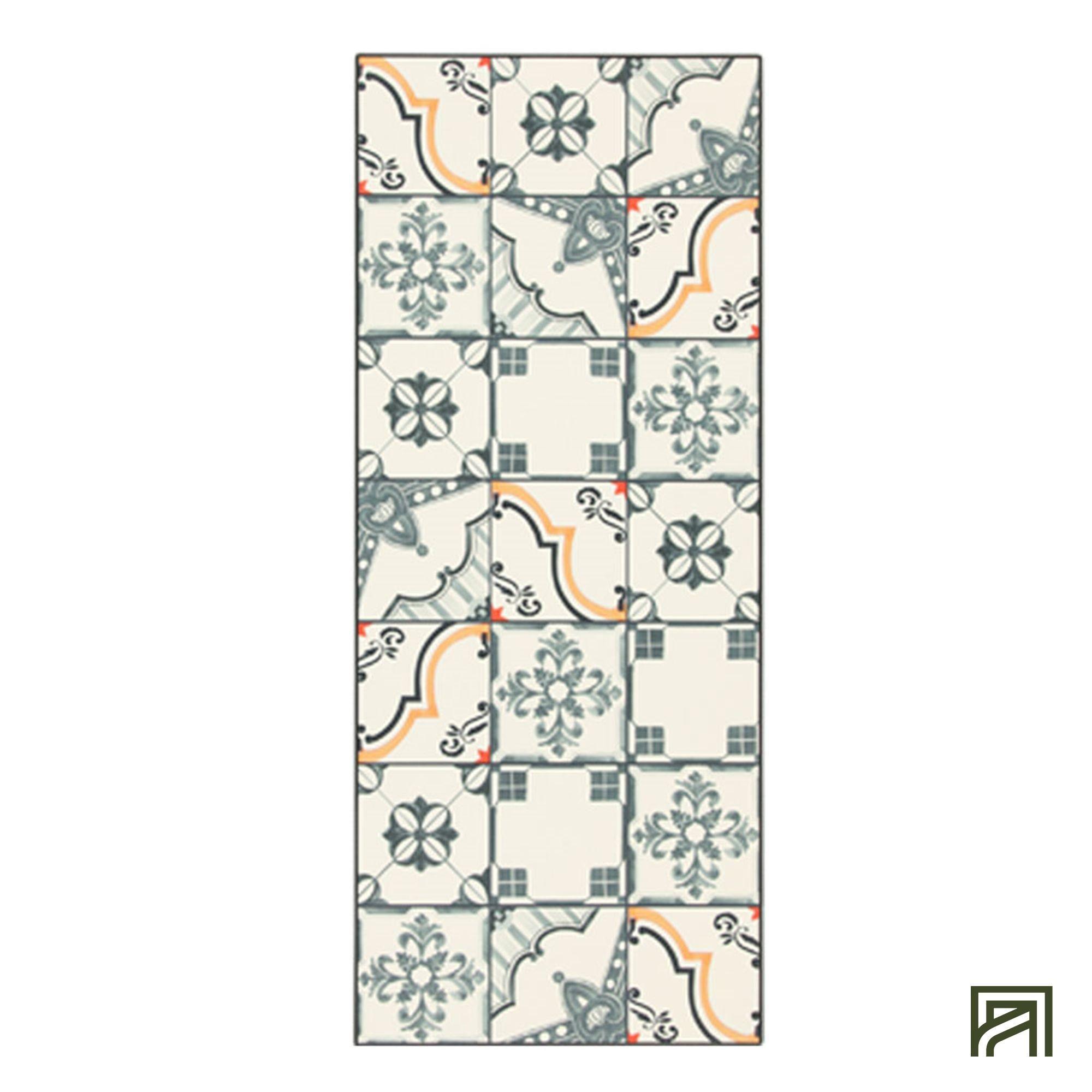 Tapis Imitation Carreaux De Ciment Vinyle alinea : vistacimen1 tapis de cuisine carreaux de ciment