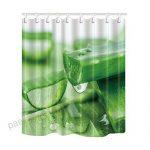 KOTOM Rideaux de Douche de Plantes Aloès Vert avec jus de Beauté …