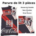 COCA COLA - Parure de lit (3pcs) - Housse de Couette (140x200)