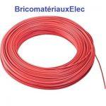 FIL ELECTRIQUE SOUPLE 2,5 mm² couleur Rouge longueur 10 mètres