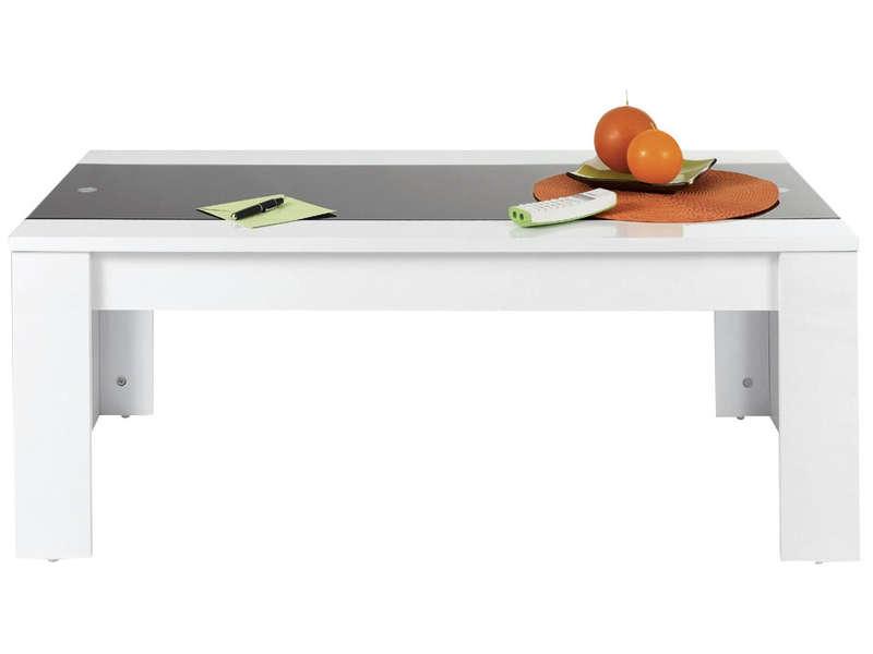 Table Basse Jackson Coloris Blanc Noir Vente De Table