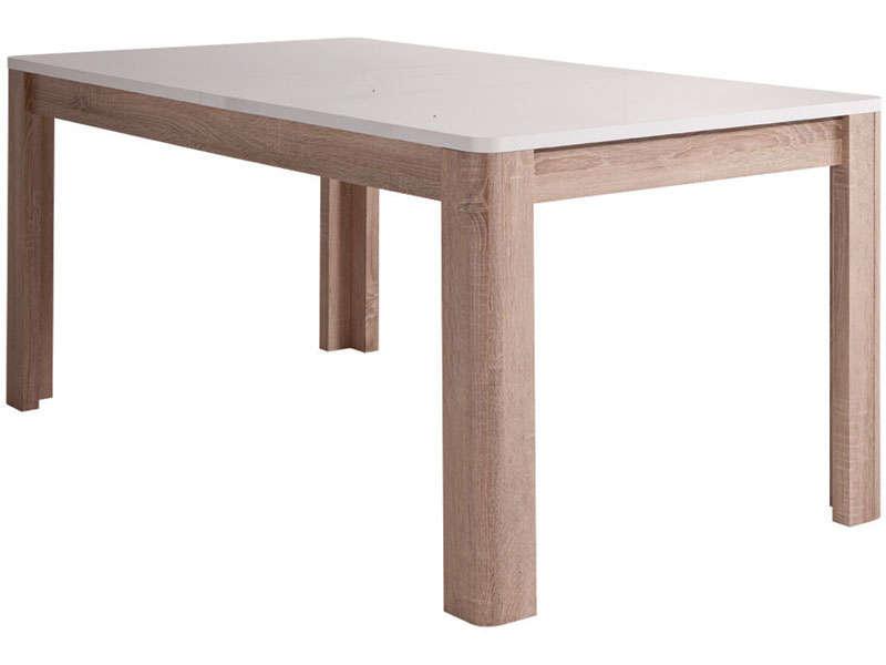 Table rectangulaire avec allonge L206,5 cm max LEVI coloris bois …