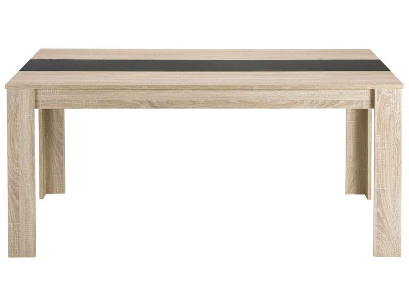 Table Rectangulaire 160 Cm Nico Coloris Chêne Clair Vente