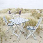 Lot de 2 chaises pliantes de jardin TRINIDAD coloris gris – Vente de …
