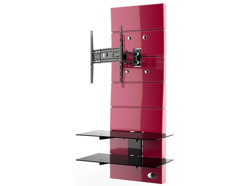 Meuble Tv Meliconi Ghost Design 3000 R Rouge Chez Conforama