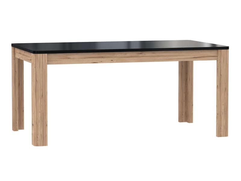 Table rectangulaire avec allonge 206,6 cm max LEVI coloris noir …