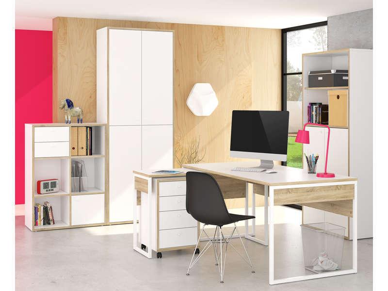 sonoma cm de coloris chêne blanc Bureau 160 TORONTO Vente GzMUVpqS