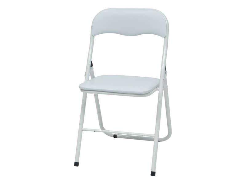 Chaise pliante BREVA coloris blanc - Vente de Table et ...