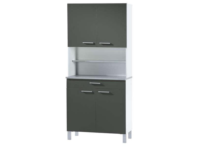 Buffet de cuisine DEBORA coloris gris/blanc chez Conforama