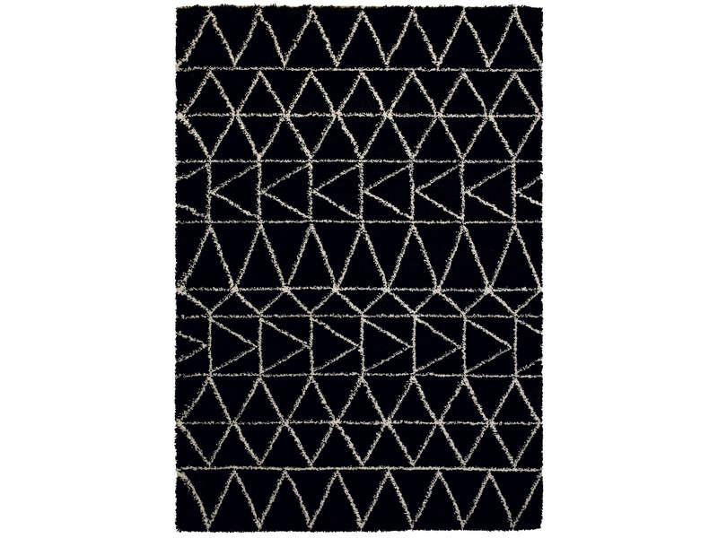 Tapis 120x170 Cm Karl Coloris Noir Vente De Tapis Salon Et