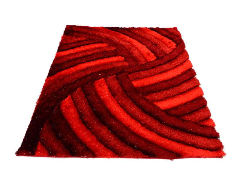 Tapis 160x230 cm DOMI coloris rouge - Vente de Tapis salon et ...