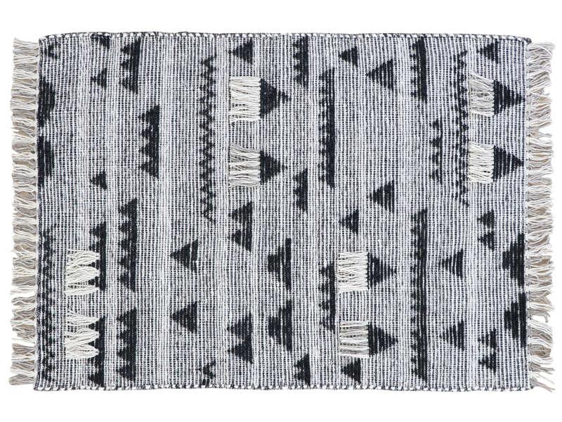 Tapis 120x170 cm SANDRO coloris noir/ gris - Vente de Tapis salon et ...