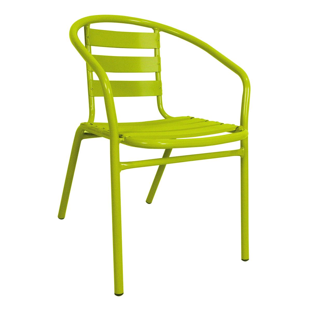 Chaise bistrot jardin fauteuil exterieur couleur | Maisondours