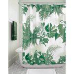 InterDesign Rideau de Douche – Imprimé Tropical Vert – Rideau de …