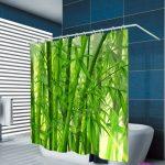 Urijk 3D Numérique Vert Bambou Impression Crochet Imperméable Rideau …
