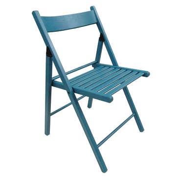 Chaise pliante ulla coloris bleu